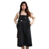 秋装女装韩版学院风牛仔背带裙中长款宽松百搭无袖连衣裙长裙显瘦