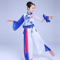 儿童青花瓷秧歌服中国风古筝伴舞扇子伞舞古典舞民族表演服装女童