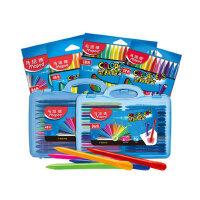 马培德儿童塑料蜡笔 初学者幼儿园宝宝绘画涂色三角笔杆安全不粘手小学生写生彩色笔