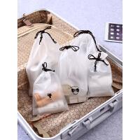 透明收纳袋旅行装衣服袋子内衣收纳包束口抽绳旅游整理袋