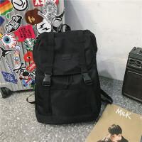 双肩包男时尚潮流韩版学生书包女休闲简约电脑大容量旅行背包