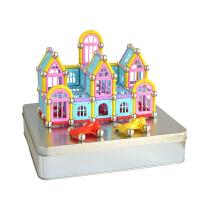 磁力棒 856件 磁性力玩具 益智 拼装玩具 铁盒装套组
