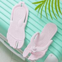 旅行便携折叠旅游拖鞋海边度假防滑沙滩鞋男女士游泳拖鞋户外凉鞋