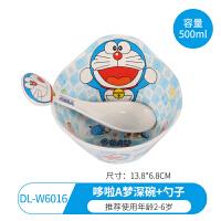 【支持礼品卡】婴儿童碗餐具学习训练筷子带盖宝宝不锈钢吸盘保温碗叉勺套装辅食1uq