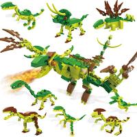 儿童积木玩具恐龙小颗粒小男孩6-14岁以上拼装侏罗纪公园