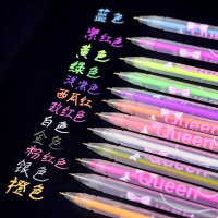 荧光笔手工diy相册配件书写笔流畅彩笔水粉笔涂鸦笔梦幻彩笔 抖音 彩笔 1套12支(各一)