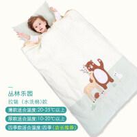 婴儿睡袋秋冬宝宝儿童防踢被神器中大童薄款春秋纯棉被子四季通用