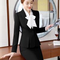 秋季新款职业装女装套装套裤女士西装酒店正装两件套商务工作服潮