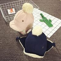 儿童帽子冬天护耳帽男女宝宝帽子1岁婴儿帽6-12个月加绒雷锋帽秋