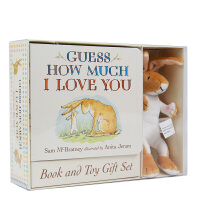 【�A�】Guess How Much I Love You Book & Toy猜猜我有多�勰悖ê�玩偶)英文原版�和��L本