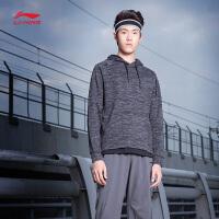 李宁卫衣男士新款训练系列套头衫长袖连帽上衣男装夏季运动服AWDN363