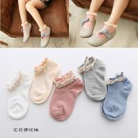 儿童袜子韩版女童蕾丝花边袜2018韩国风春夏薄款宝宝短袜