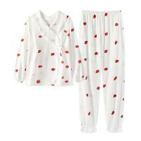 孕妇睡衣夏季薄款纯棉纱布产后哺乳月子服春秋冬季11月份10产妇9