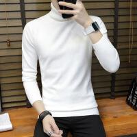 秋冬高领男式毛衣 长袖打底衫纯色 学生男式针织衫套衫心鸟