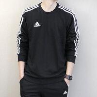 Adidas阿迪达斯 男子 运动休闲卫衣 圆领保暖宽松套头衫 BR1509