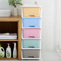 儿童玩具收纳箱塑料抽屉式透明收纳柜宝宝衣柜婴儿衣服整理箱 5个