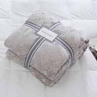 家纺2017秋冬季新款棉被子毛毯羊羔绒毯双层加厚毯子法兰绒保暖双人盖毯午睡毯