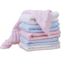 婴儿纱布毛巾初生儿洗脸巾宝宝手帕口水巾手绢小方巾
