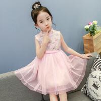 女童连衣裙公主裙夏装新款儿童旗袍夏季童装中大童小女孩网纱裙子