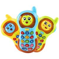儿童玩具手机电话 爱儿优变脸手机带音乐灯光6-12-18个月宝宝早教 变脸手机一个颜色随机