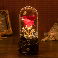 永生花礼盒玻璃罩玫瑰干花母节情人生日礼物摆件音乐盒蓝牙音箱