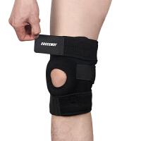 护膝 0108专业运动护具跑步户外登山篮球骑行男女保暖 黑色