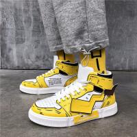 男童鞋秋冬季新款高帮潮中大童板鞋