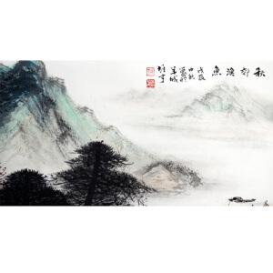 S黎雄才  秋郊渔鱼  45*69