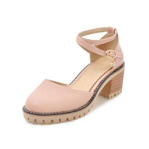 O'SHELL法国欧希尔新品099-9031韩版超纤皮中跟女士单鞋