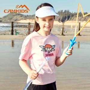 CAMKIDS男童短袖T恤2018夏季休闲上衣女童打底衫儿童t恤漫威