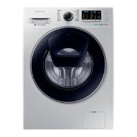 三星(SAMSUNG) 8公斤超薄滚筒洗衣机 中途添衣 泡泡洗 银色WW80K5210VS/SC