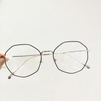 2017新款大框显瘦不规则眼镜框 细框超轻钛合金眼镜男女款