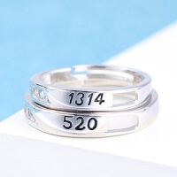 多种选择欧美流行男女对戒情侣戒指仿真钻石饰品结婚活口对戒