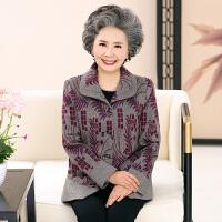 中老年女装薄外套老太太上衣春秋奶奶装60-70岁老年人春装女外套