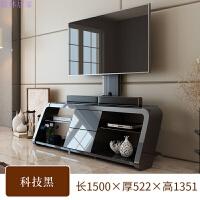 现代简约小户型客厅电视柜简约卧室客厅钢化玻璃迷你视听柜 组装
