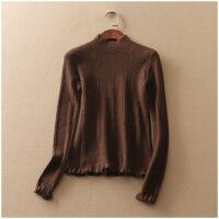 特价 春季修身打底衫半高领保暖纯色套头针织衫女10616