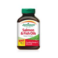 【网易考拉】【守护心脑】加拿大Jamieson 三文鱼油软胶囊清除血管垃圾 200粒