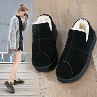 棉鞋女冬季鞋子加绒百搭学生冬天短靴保暖靴子雪地靴