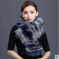 高贵精致韩版长款大毛领皮草围巾女保暖时尚围脖狐狸毛