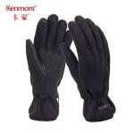 卡蒙黑色加绒手套女冬保暖短款手套男骑行情侣摩托车手套骑车防寒2835