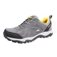 户外鞋 低帮徒步鞋 男女情侣登山鞋 防滑减震耐磨防泼水越野跑鞋 深灰 - 男款