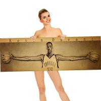 迈克尔科乔丹比杜兰特篮球海报海报复古贴画墙面装饰宿舍酒吧装饰贴画装饰壁画 40*125cm