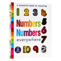 数字认知 幼儿启蒙触摸书 Numbers Numbers Everywhere 英文原版 语言押韵 英文版儿童单词认知绘