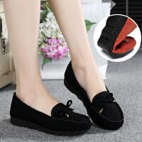 春季布鞋女鞋平跟平底单鞋休闲工作鞋孕妇妈妈鞋豆豆鞋子女