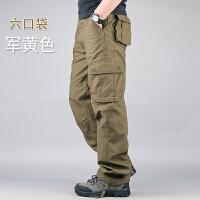 春秋立体口袋户外多口袋工装裤男长裤秋季纯棉宽松休闲裤