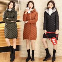 棉衣女中长款韩版2017新款冬季修身百搭连帽棉袄冬装外套