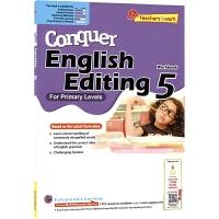 【首页抢券300-100】SAP Conquer Editing 5 五年级攻克改错系列练习册 11岁 新加坡小学英语教