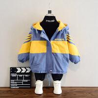 男童冬装外套秋冬夹棉袄上衣儿童中长款洋气男孩棉衣