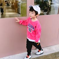 男童卫衣春秋款洋气韩版儿童中大童上衣