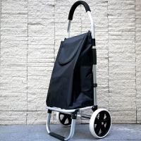 购物车小拉车 家用铝合金折叠便携老人爬楼购物车买菜车小拉车轻便大轮子小拖车 新款双轴承